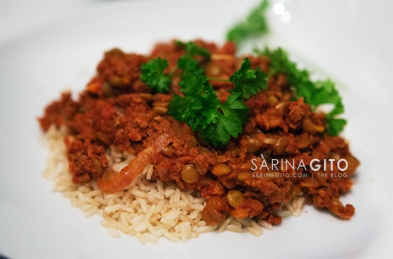 Healthy Dinners: Tomato & Lentil Stew w/Brown Rice